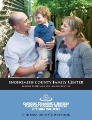 snohomish county Family Center - Catholic Community Services