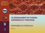 le dessalement en tunisie - emwis