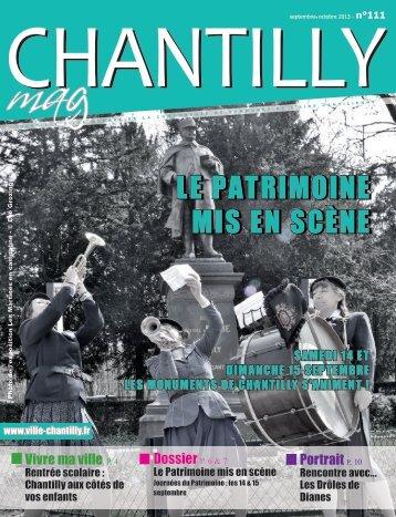 Télécharger le dernier bulletin municipal au ... - Ville de Chantilly
