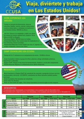 Viaja, diviértete y trabaja en Los Estados Unidos! - PCT Colombia
