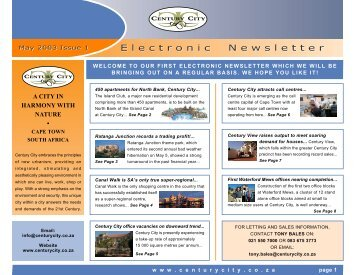 01 May 2003 Newsletter - Century City