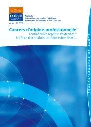 Cancers d'origine professionnelle - Ligue contre le cancer
