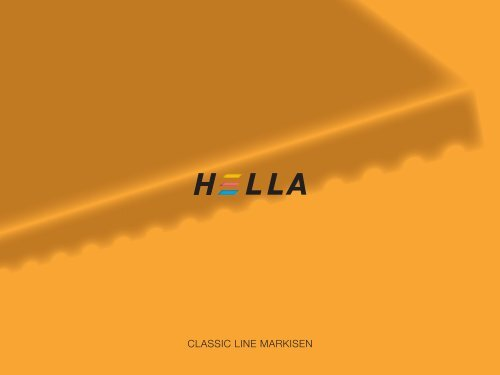 CLASSIC LINE MARKISEN - Hella Specht