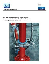 flow line safety clamps brochure - cover - Weir Oil & Gas Division
