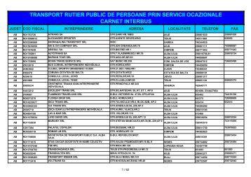 transport rutier public de persoane prin servicii ocazionale carnet ...