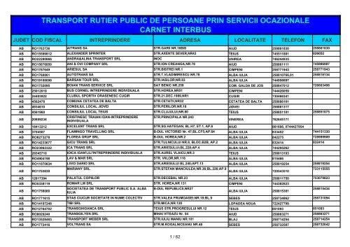 transport rutier public de persoane prin servicii ocazionale