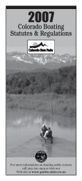 Colorado Boating Statutes & Regulations