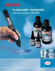 FLASHCURE® ADHESIVES - Loctite
