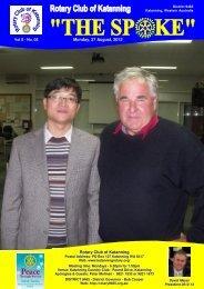 Vol 8-05-August 27 - Katanning Rotary Club