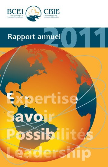 Rapport annuel 2011 - The Canadian Bureau for International ...