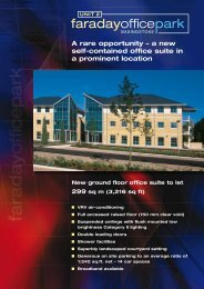 a new self-contained office suite in a prominent location