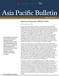 Indonesia Expands ASEAN's Role - East-West Center