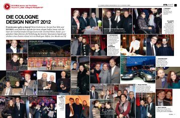 DIE COLOGNE DESIGN NIGHT 2012
