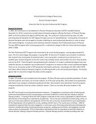Phase Out Plan for the Post-Professional DPT Program - Richard ...