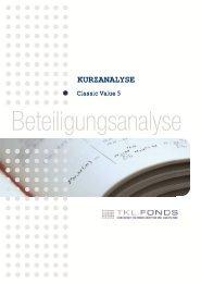 TKL-Kurzanalyse - IBB - Internationales Bankhaus Bodensee AG