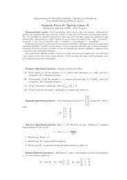 Segunda Prova de´Algebra Linear II - LabMA