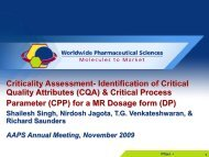 Criticality Assessment- Identification of Critical Quality Attributes ...