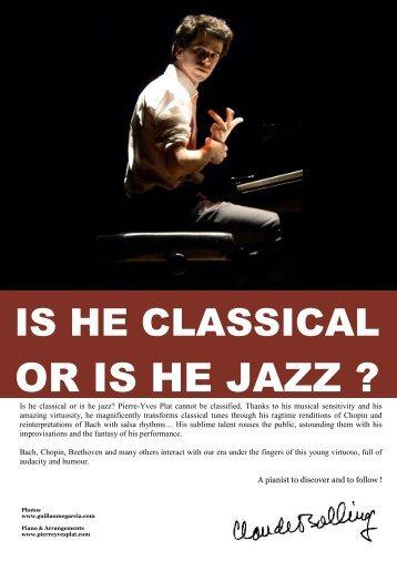 OR IS HE JAZZ ? - Pierre-Yves Plat