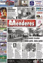 08  Ekim tarihli Küçükmenderes gazetesi