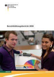 Berufsbildungsbericht 2010 - CJD Dortmund