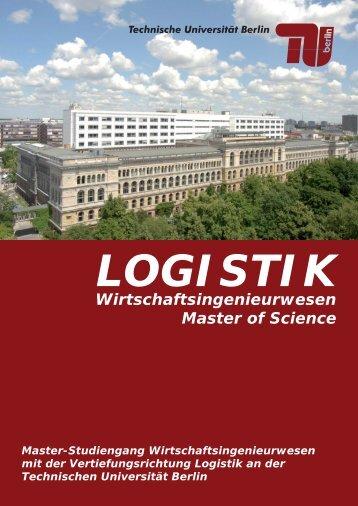Wirtschaftsingenieurwesen Master of Science - Bereich Logistik - TU ...