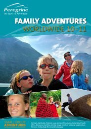 FAMILY ADVENTURES - Peregrine Adventures