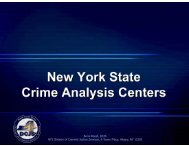 New York State Crime Analysis Centers - SEARCH - National ...