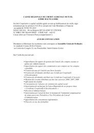 Avis de convocation à l'Assemblée Générale du 12 mars 2010 et ...