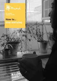 How to stop worrying - Mental Health In The UK