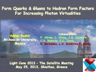 Form Quarks & Gluons to Hadron Form Factors For Increasing ...