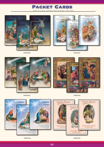 Packet Cards - Christian Supplies