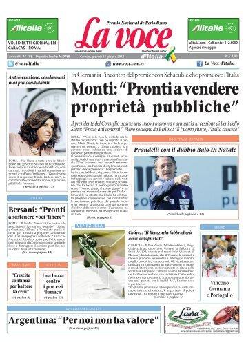 14 GIUGNO 2012 - La Voce d'Italia
