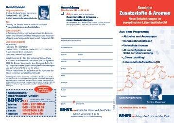 Zusatzstoffe & Aromen Zusatzstoffe & Aromen