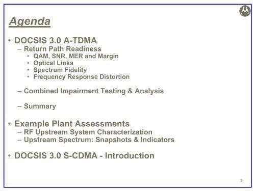 Upstream-A-TDMA