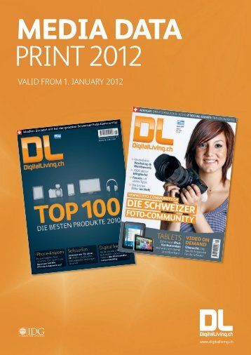 valid from 1. January 2012 - IDG Communications