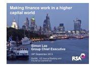 Making finance work in a higher capital world