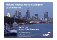 Making finance work in a higher capital world