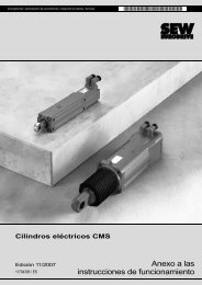Cilindros eléctricos CMS - SEW Eurodrive