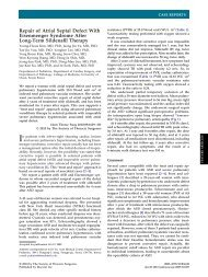 Repair of Atrial Septal Defect With Eisenmenger Syndrome After ...