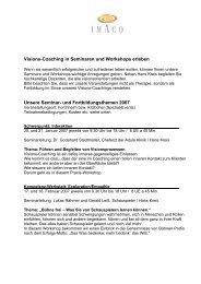 Workshops und Events 2007 - Imaco