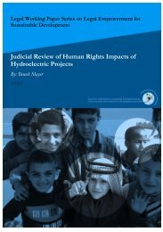 Judicial Review of Human Rights Impacts of Hydroelectric ... - CISDL