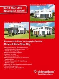 Unsere Edition Style City. - Viebrockhaus