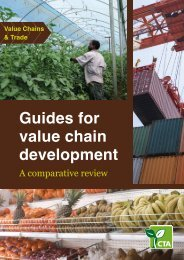 Guides for value chain development - Making The Connection - CTA