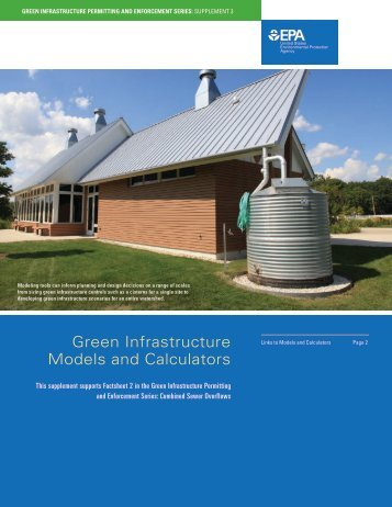 Green Infrastructure Models and Calculators (PDF) - Water