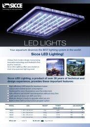 LED LIGHTS - Sicce S.p.A.