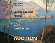 California & American Fine Art Brochure - California Art Auction