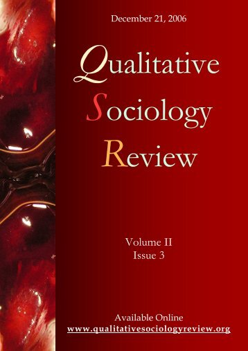 vol II is 3 - Qualitative Sociology Review