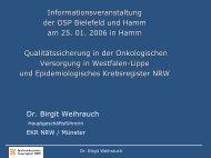 Dr. B. Weihrauch - Epidemiologische Krebsregister NRW ...