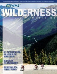 Summer, 2006 - Wilderness Medical Society