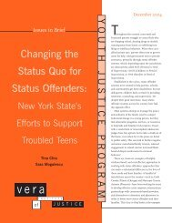 Changing the Status Quo for Status Offenders: - LSUHSC School of ...